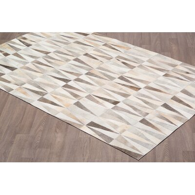 Channelle Hand Tufted Cowhide Natural Gray Area Rug Rug Size: Rectangle 5 x 8