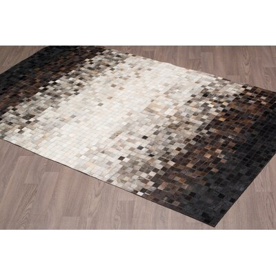 Charee Hand Woven Cowhide Ombre Area Rug Rug Size: Rectangle 8 x 10