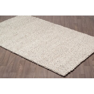 Lareau Hand Tufted Wool Ivory Area Rug Rug Size: Rectangle 5 x 8