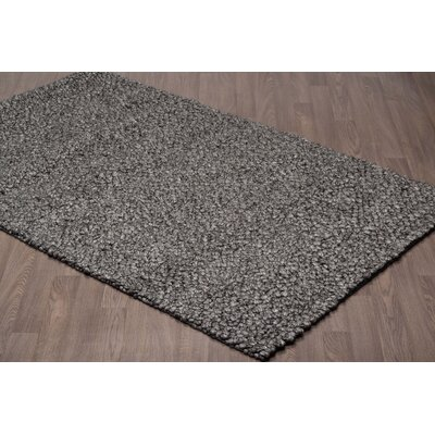 Larocque Hand Tufted Wool Ivory/Black Area Rug Rug Size: Rectangle 5 x 8