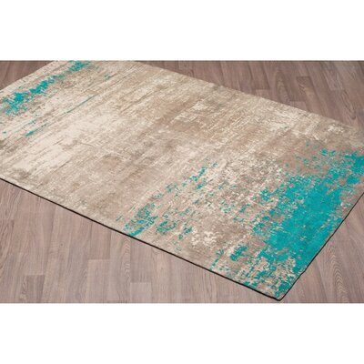 Charleena Abstract Chenille Cotton Beige Sky Area Rug Rug Size: Rectangle 5 x 8