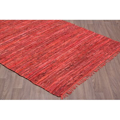Cueva Reversible Hand Woven Wool Red Area Rug Rug Size: Rectangle 5 x 7