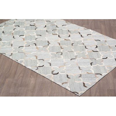 Keyla Viscose Hand Tufted Silver/Gray Area Rug Rug Size: Rectangle 8 x 10