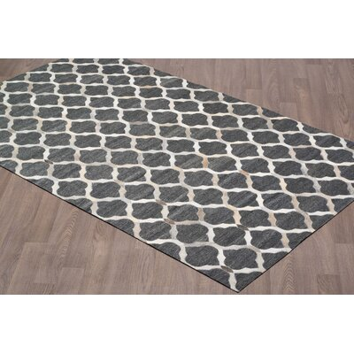 Hadlee Hand Tufted Charcoal/Gray Area Rug Rug Size: Rectangle 5 x 8