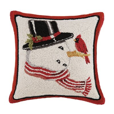 Snowman Hook Wool Throw Pillow