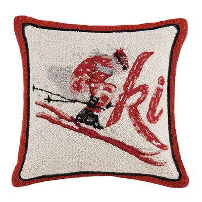 Ski Hook Wool Throw Pillow