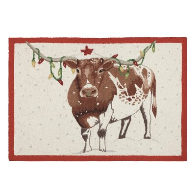 Holiday Bulbs Longhorn Area Rug