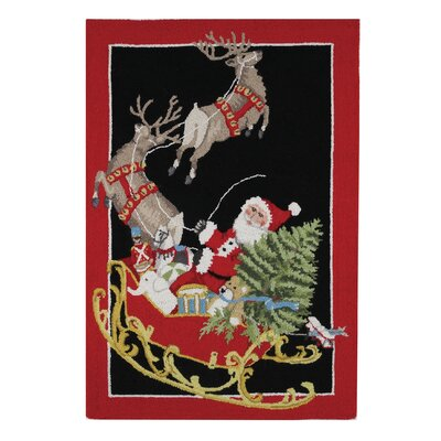 Santa Sled Rectangle Area Rug