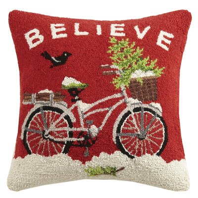 Believe Hook Wool Throw Pillow