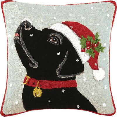 Labrador Hook Wool Throw Pillow