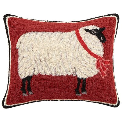 Sheep Hook Wool Lumbar Pillow