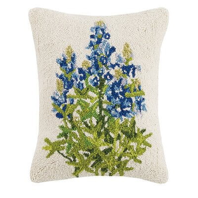 Mondello Blue Bonnet Wool Lumbar Pillow