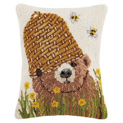 Stamm Honey Bear Hook Wool Lumbar Pillow