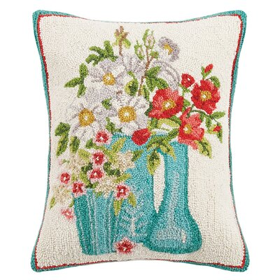 Ludgin Lavender Bees and Flowers Wool Lumbar Pillow