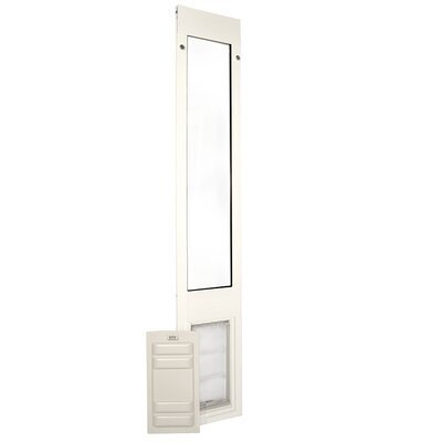 Endura Flap Quick Panel 3 Pet Door Flap Size: Large, Color: White, Frame Size: 74.75 - 77.75