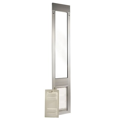 Endura Flap Quick Panel 3 Pet Door Flap Size: Small, Color: Silver, Frame Size: 74.75 - 77.75