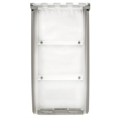 Endura Flap Thermo Panel 3E Pet Door Flap Size: Large, Color: White, Frame Size: 74.75 - 77.75