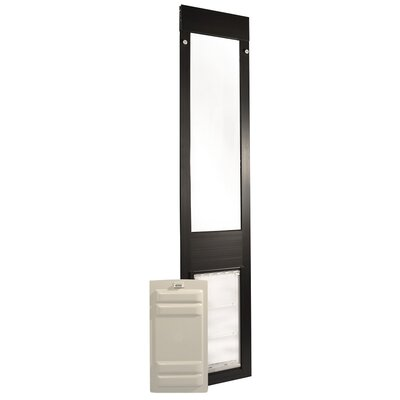 Endura Flap Quick Panel 3 Pet Door Flap Size: Large, Color: Bronze, Frame Size: 93.25 - 96.25