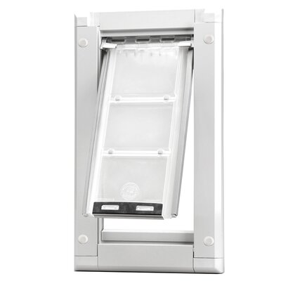 Endura Door Mount Single Flap Pet Door Size: 15 H x 8 W , Color: White