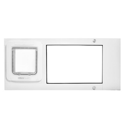 Thermo Sash 2e SureFlap Microchip Pet Door Color: White, Size: 25 x 28