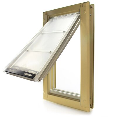 Endura Door Mount Single Flap Pet Door Size: 24 H x 13.5 W x 2 D, Color: Tan