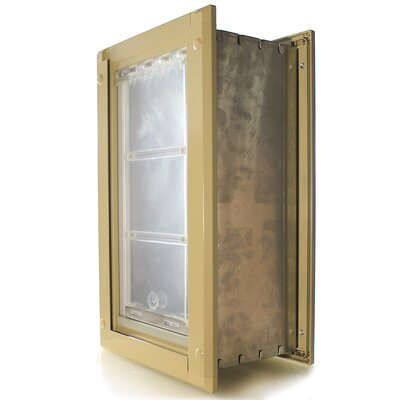 Endura Wall Mount Single Flap Pet Door Size: 28 H x 15.5 W x 2 D, Color: Tan