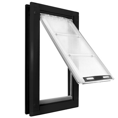 Endura Door Mount Single Flap Pet Door Size: 19 H x 10 W , Color: Black/Dark Bronze