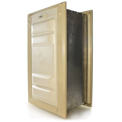 Endura Door Mount Double Flap Pet Door Size: 14 H x 8 W , Color: Tan