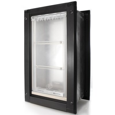 Endura Door Mount Double Flap Pet Door Size: 22 H x 12 W , Color: Black/Dark Bronze