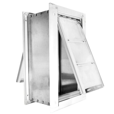 Endura Wall Mount Double Flap Pet Door Size: 18 H x 10 W , Color: White