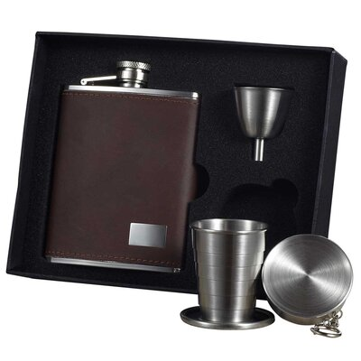 Leather Stellar Flask Gift Set VSET32-1194