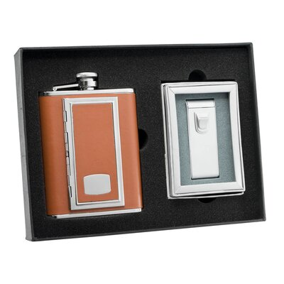 SP Cigarette Case Flask and Maximus Cigar Torch Flame Lighter Gift Set