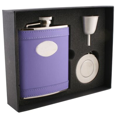 Leather Stainless Steel Stellar Flask Gift Set VSET32-1197