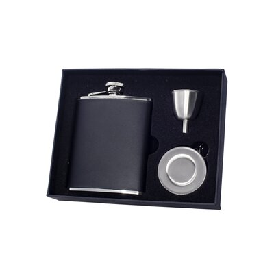 Leather Stellar Flask Gift Set vset32-1142