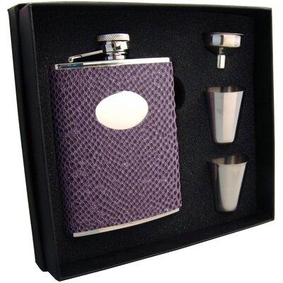 Snakeskin Design Stainless Steel Hip Flask Gift Set VSET5002B-1297