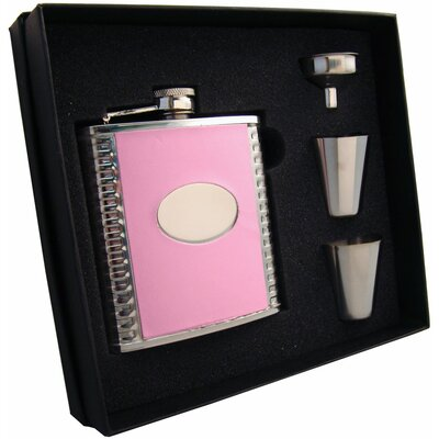 Leather Stainless Steel Hip Flask Gift Set VSET5002B-5027