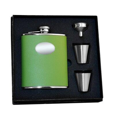 Leather Deluxe Hip Flask Gift Set VSET38-1124