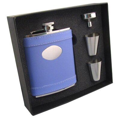 Leather Stainless Steel Hip Flask Gift Set VSET5002B-1197