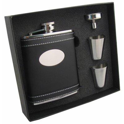 Leather Stainless Steel Hip Flask Gift Set VSET5002B-2023