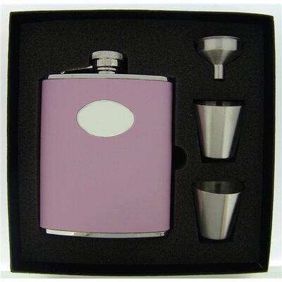 Leather Deluxe Hip Flask Gift Set VSET38-1123