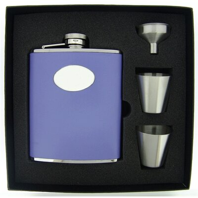 Leather Deluxe Hip Flask Gift Set VSET38-1121