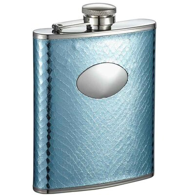 Cielo Snakeskin Stainless Steel Hip Flask VF1324