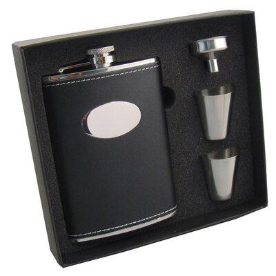 Leather Stainless Steel Hip Flask Gift Set VSET5004B-1116