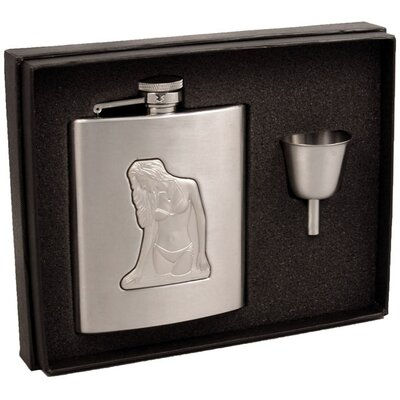 Beach Girl Hip Flask Gift Set VSET16-2029