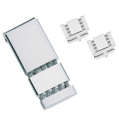 Cables Money Clip and Cufflinks Gift Set