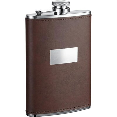 Leather Stainless Steel Hip Flask VF1270Amaze