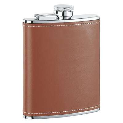 Leather Liquor Flask Finish: Hound Brown VF1118NP