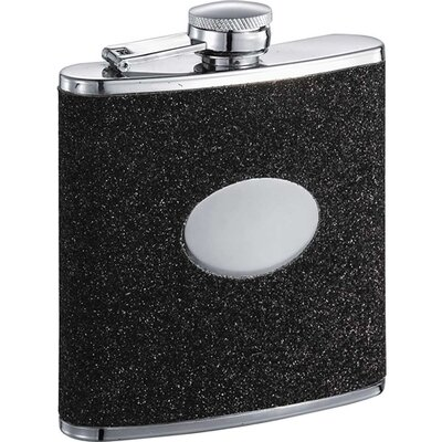 Glittered Leatherette Stainless Steel Hip Flask VF5033