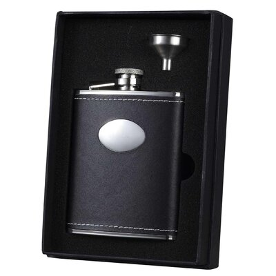 Leather Liquor Flask Gift Set VSET33-1117