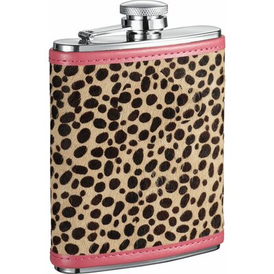 Cheetah Pattern Liquor Flask VF1284NP